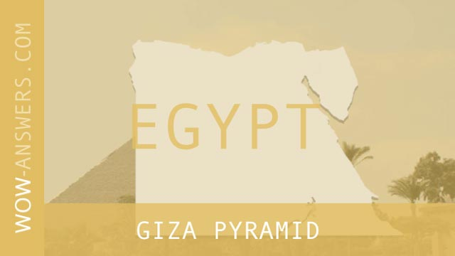 words of wonders Giza Pyramid