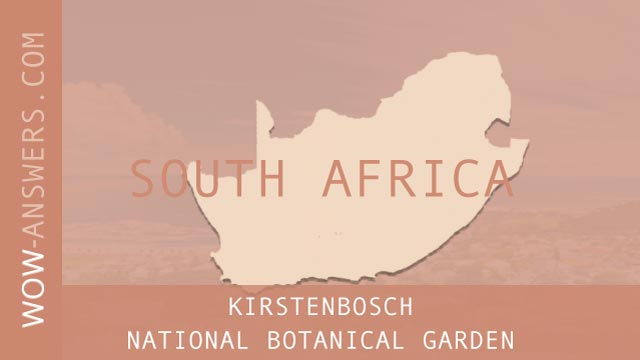words of wonders Kirstenbosch National Botanical Garden