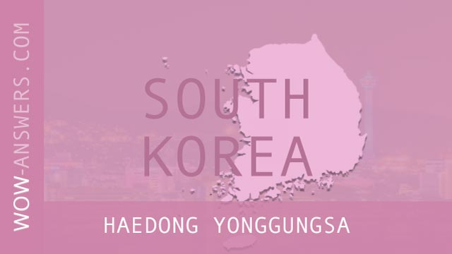 words of wonders Haedong Yonggungsa