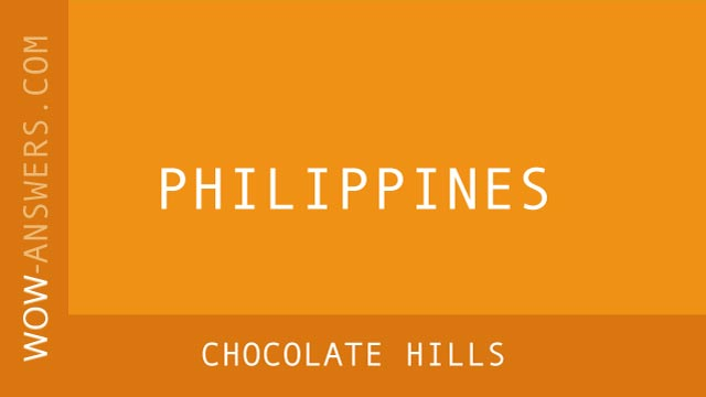 words of wonders Chocolate Hills